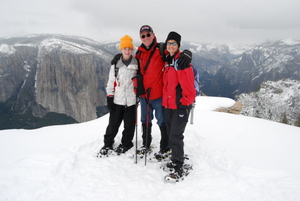 Yosemite Dewey Point Snowshoe Hike
